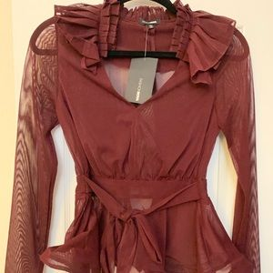 Fashion Nova Ruffled Blouse